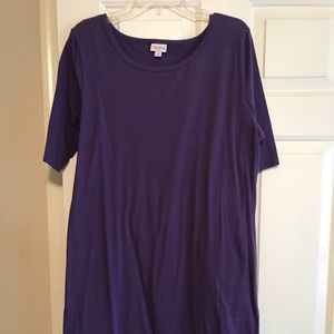 NWOT SOLID purple Julia LuLaRoe dress